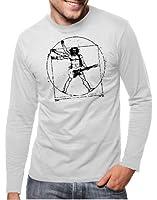 Touchlines Herren T-Shirt Da Vinci Rock Guitar Langarm