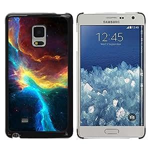 TopCaseStore / la caja del caucho duro de la cubierta de protección de la piel - Nebulae Sky Universe Teal Galactic - Samsung Galaxy Mega 5.8 9150 9152