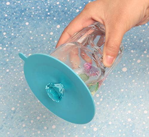 tapas para tazas antipolvo t/é caf/é con dise/ño de mariposa reutilizables tapa de taza creativa 6 fundas de silicona para tazas de vidrio tapas de taza para bebidas de grado alimenticio
