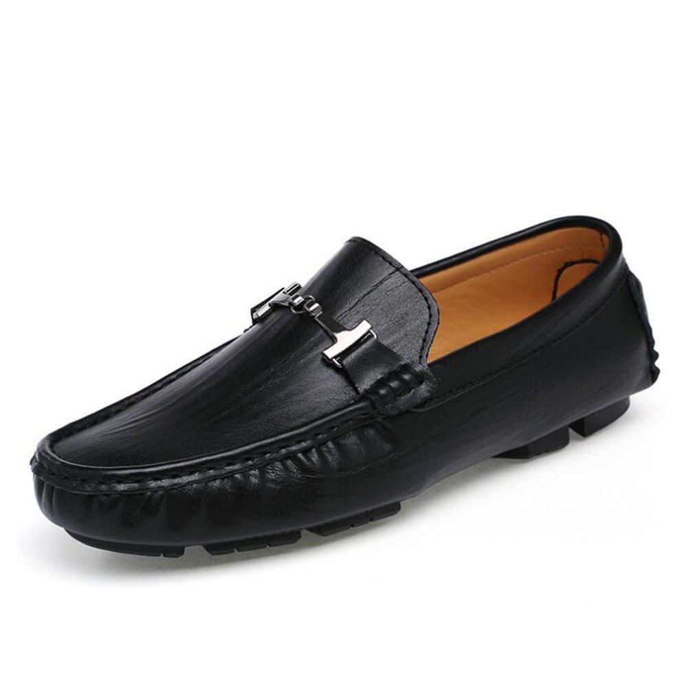 da9442048cabc7 Männer echtes Leder Loafers Frühling Herbst Herbst Frühling Faule Schuhe  Mens Comfort Stiefelschuhe Fahr Schuhe täglich Büro Casual (Farbe Schwarz