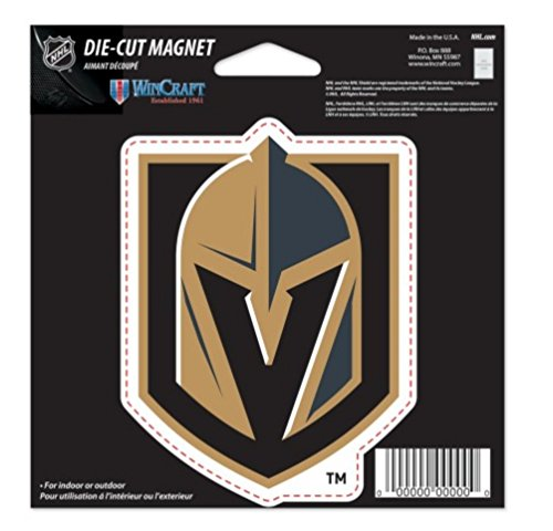 WinCraft NHL Vegas Golden Knights Color 4.5 x 6 Die Cut - Nhl Magnets