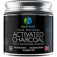 ECCO PURE Activated Charcoal Natural Teeth Whitening Powder | Efficient Alternative to Charcoal Toothpaste, Strips, Kits, Gels