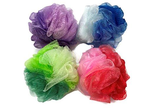 Body Wash Shower Sponge Mesh Pouf Luffa Loofah Bath Scrubber Puff pack of 4 (pack of 4)