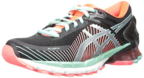 ASICS Women's Gel-Kinsei 6 Running Shoe, Black/Hot Pink/Flash Yellow, 8.5 M US