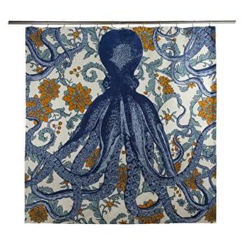 Danica Studio Shower Amazon Com Thomaspaul Octopus Vyard Curtain Home