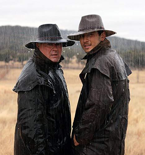 Kakadu Australia Cowboy Saddle Slicker Rain Coat Duster -Workhorse Full Length Unisex Brown (Kakadu Coat)