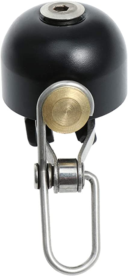 X AUTOHAUX 2pcs 27mm Bike Bell Classic Bicycle Loud Clear Sound Bell Black Silver Tone for 7//8 Inch Handlebar
