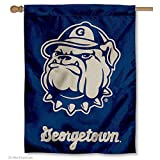 "Our Georgetown Hoyas House Flag measures 30"" x 40"" in size, has a Double Stitched Perimeter, is made of Single-Ply Polyester with 2-Ply Bottom Panel, and has a top pole sleeve for inserting your banner pole or flagpole. These House Flags are ..."
