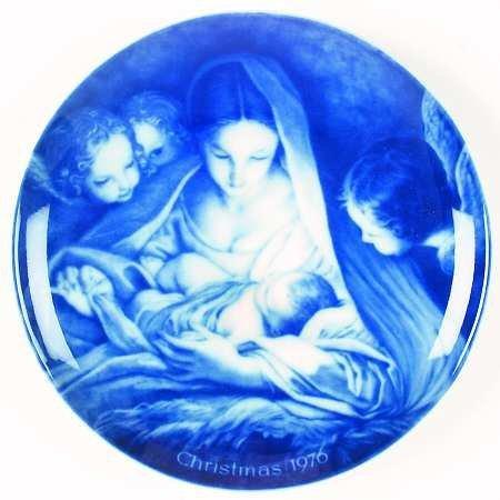 Christ The Saviour Is Born Christmas 1976 Kaiser Porcelain - 1976 Hummel Plate