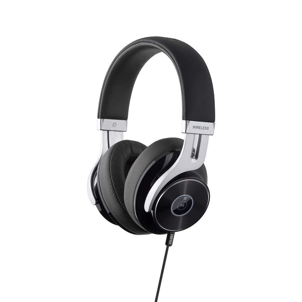 Edifier W855BT Bluetooth Headphones with Microphone, Hi-Fi Stereo Deep Bass Wireless Headphones Over Ear, Soft Earmuffs with Wired Mode for iPhone/Ipad/PC/Cell Phones/TV Travel Work Sports - Black by Edifier (Image #9)