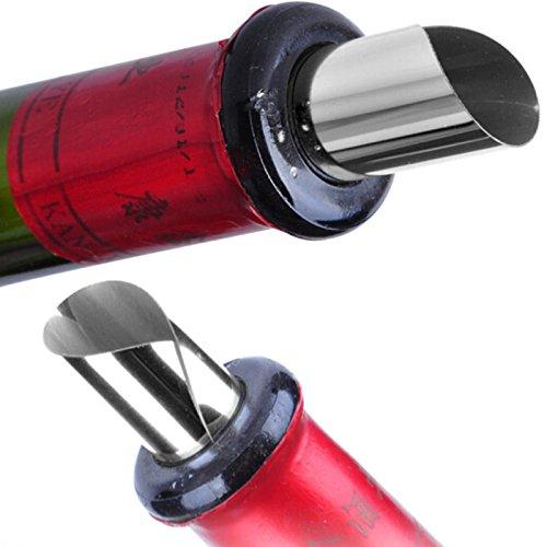 Vertedor de vino silver-50pcs nacola pr/áctico Disco L/ámina de whisky de vino vertedor vertedor Stop Drop boquilla cata de vinos Party Set de herramientas