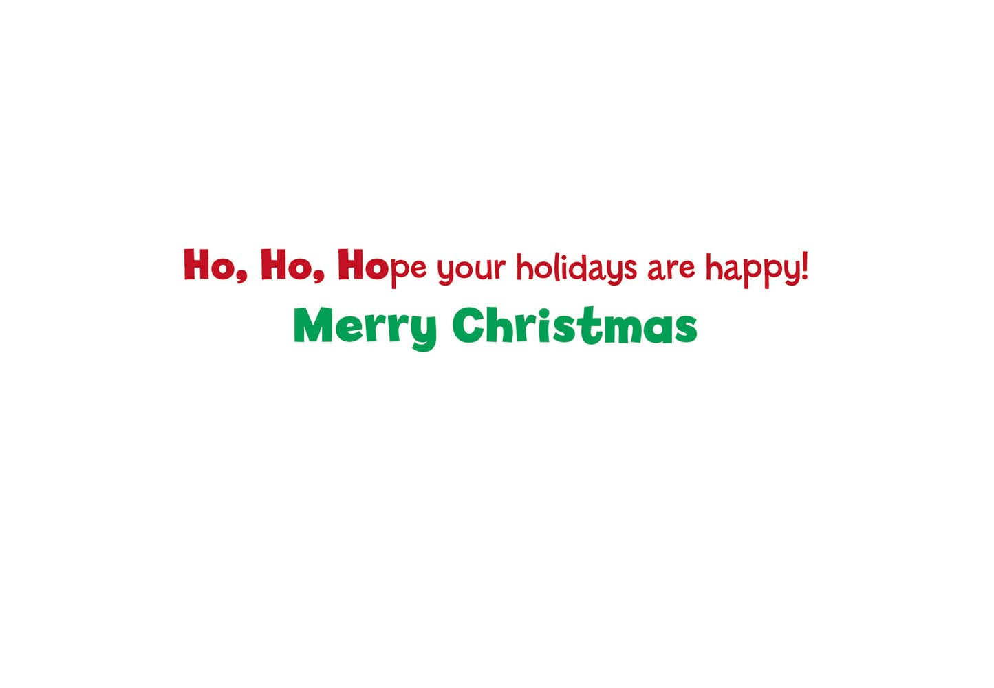 Amazon.com : Avanti Christmas Cards, Ho Ho Ho, 10 Count : Blank ...