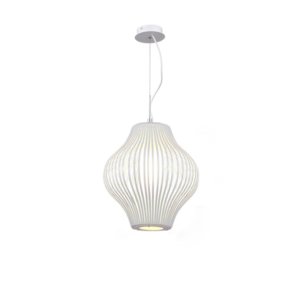 ZYANZ- White Iron Chandelier (E27 Spiral Lamp Head) Creative Personality Bedroom Living Room Single Headlamp ( Size : 32cm34cm )