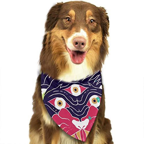 Magical Monster Adjustable Dog Bandana Washable Dog Scarf Pet Triangle Bandanas Fashion Bib for Small to Large Dogs Cats]()