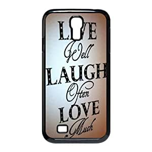 Samsung Galaxy S4 I9500 Phone Case Black Live Laugh Love NLG7813460
