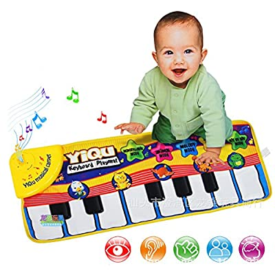 Mallya Funny Keyboard Piano Mat for Kids,3 Model Sound+Music mode, animal sound mode, the piano mode
