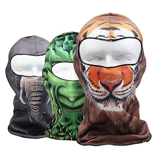 Motorcycle Face Mask - Motorcycle Under Helmet Face Mask Balaclava Bicycle Thermal Mask Snood Hat - Motorcycle Face Mask For Men Women Cold Weather Skull Neoprene Leather Goggles Thermal - 1PCs (57 Days Until Halloween)