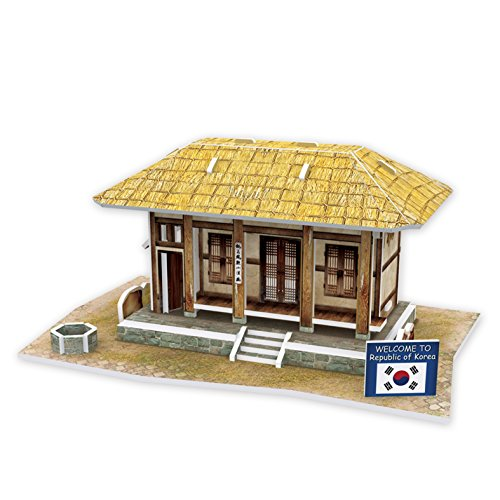 Lelifang 3D stereoscopic new listing world style hut building assembly model children 's toys W3160 South Korea - Thatched (South Seas Hut)
