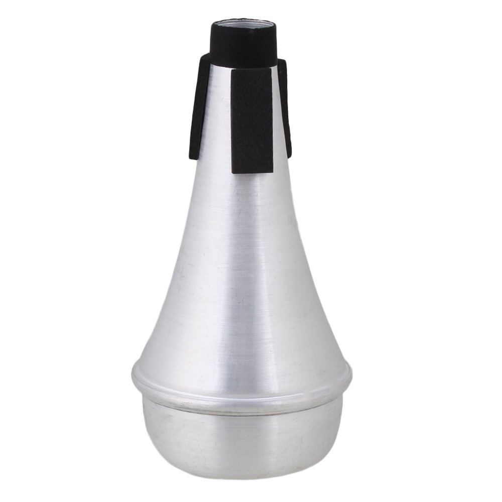 Timiy Lightweight Aluminum Practice Trumpet Straight Mute Silencer Trumpet Accessory Silver Tone