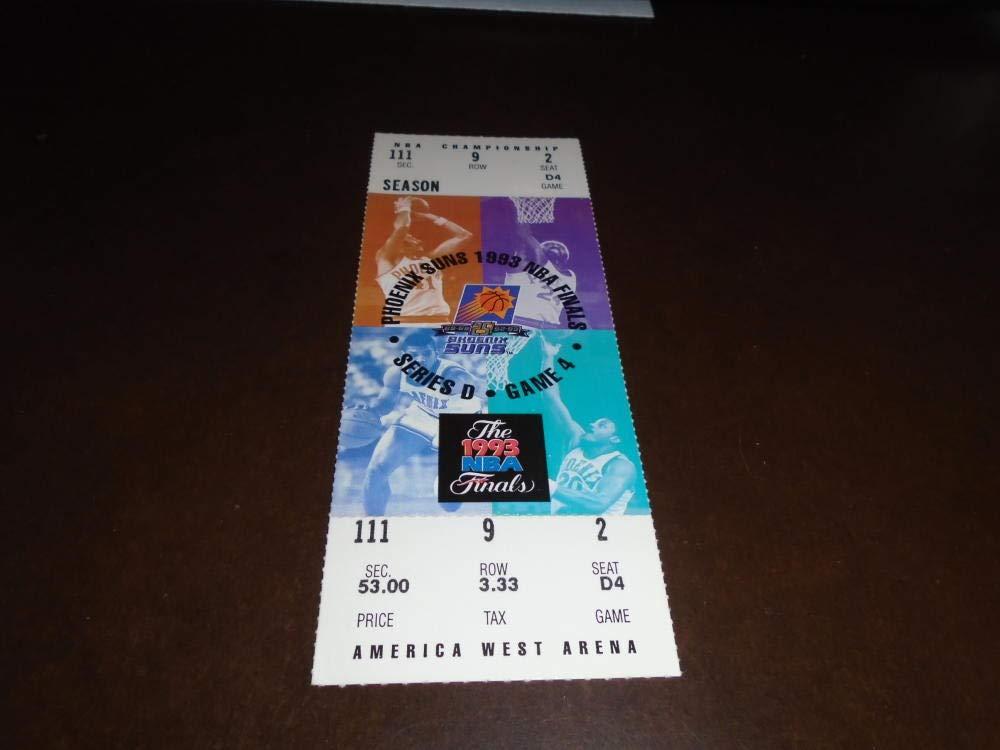 1993 NBA FINALS FULL TICKET CHICAGO BULLS PHOENIX SUNS MICHAEL JORDAN GAME 7