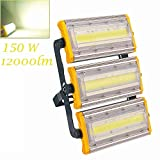 Blinwey LED Flood Light, 150W New Craft Waterproof Outdoor Work Lights, 6500K Daylight White, 12000LM Outdoor Security Floodlights for Garage, Garden, Lawn, Yard, Warehouse, Factory (Ship from USA)