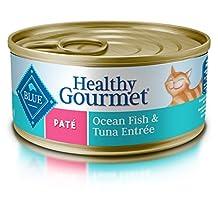 BLUE Healthy Gourmet Adult Pate Ocean Fish & Tuna Wet Cat Food 5.5-oz (Pack of 24)