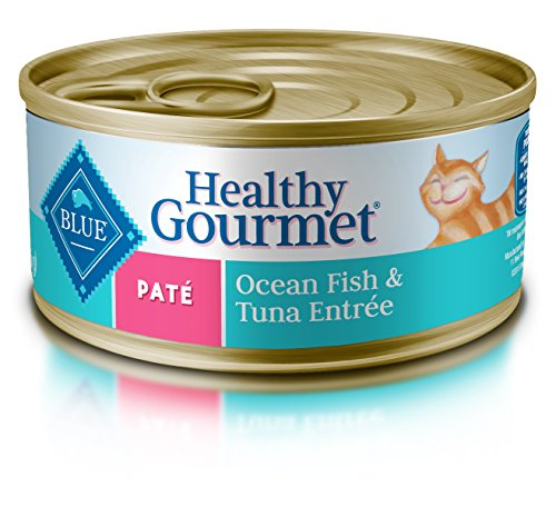 Blue Buffalo Healthy Gourmet Natural Adult Pate Wet Cat Food, Ocean Fish & Tuna 5.5-oz cans (Pack of 24)