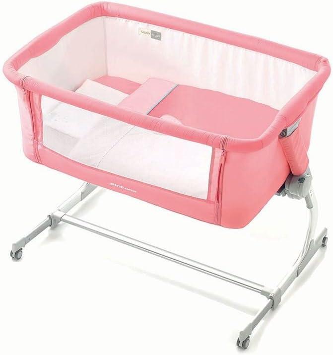 Cuna agganciabile al cama Jane babyside Cute Rosa y Blanco 6800 ...