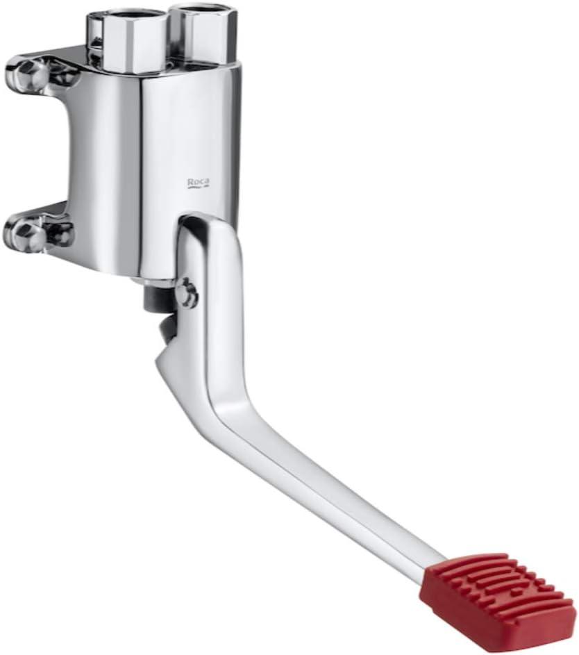 Mezclador grifo progresivo de pedal, instalación a pared, accionamiento con el pie, serie Instant foot, 17 x 7,5 x 23 centímetros, color cromado (Referencia: A505128900)