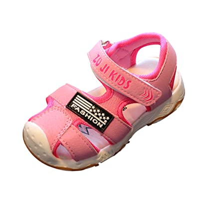 18caf18686f Amazon.com  Cloudro Baby Sneakers Sandals Little Boy Girl Closed Toe ...