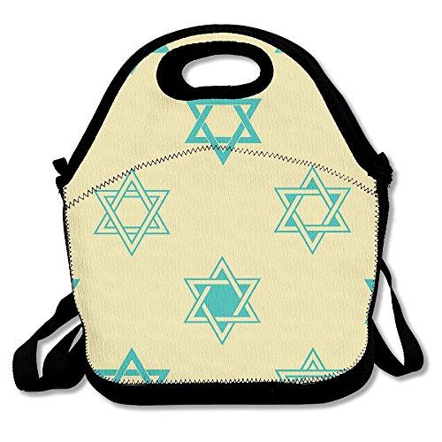 - WSXEDC Lunch Bag Happy Hanukkah Printing Handbag With Adjustable Shoulder Strap For Picnic School