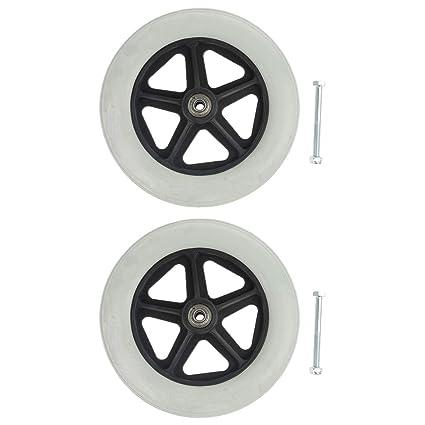 B Baosity - Ruedas delanteras de repuesto para sillas de ruedas y movilidad (2 unidades