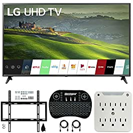 LG 65UM6900 65-inch 4K UHD Smart TV with TruMotion 120 (2019) Bundle with Deco Mount Flat Wall Mount Kit, Deco Gear…