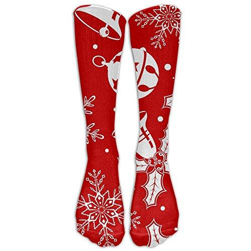Christmas 1 Pair Over-The-Calf Socks Cosplay Socks Knee High Lightweight Ribbed Dress Stockings (Early Christmas Meme Lights)
