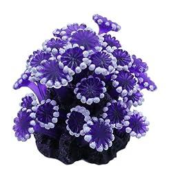 Vitality SH236 Faux Coral Aquarium Decorating Ornament, Purple