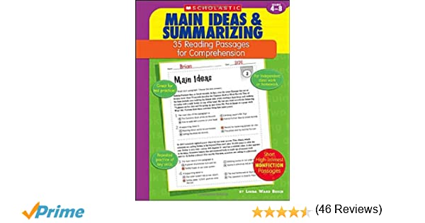 Amazon.com: 35 Reading Passages for Comprehension: Main Ideas ...