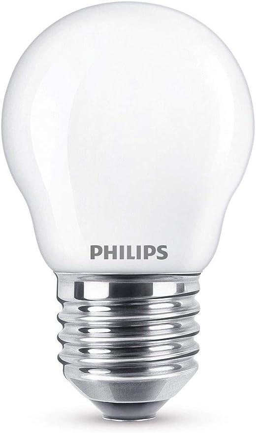 Image ofPhilips Bombilla LED E27, 2.2 W, luz blanca cálida           [Clase de eficiencia energética A++]