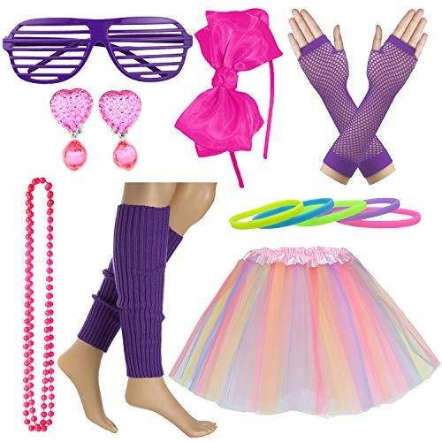 Eighties Dress Up - Kid Girl 80s Costume Accessories Rainbow