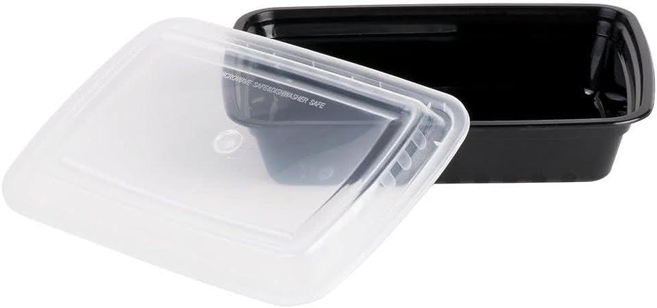 Amazon.com: Contenedores de plástico con tapa para preparar ...