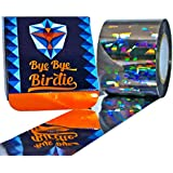 200 Ft. Bye-Bye Birdie Bird Repellent Scare Tape - Holographic Flash Deterrent for Gardens, Docks and Boats - HUGE Ribbon to Keep Birds Away - Works GREAT with Netting, Spikes or Scarecrows