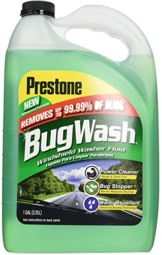 Prestone Original Bug Wash Windshield Washer Fluid, Removes Grime, Bird Droppings, Power Cleaner, Repels Rain Improves Driving Visibility