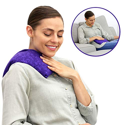 Nature Creation Basic Herb Pack Heating Pad- Microwavable & Reusable for Migraines, Headache Releif, Hot and Cold Therapy (Purple Marble) from Nature Creation