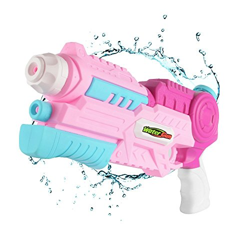 Mioshor Kids Water Blaster Guns, Super Soaker Squirt Gun for Boys/Girls/Adults,Large Capacity Water Pistol Pool Toy for Summer Party Games (Pink&Blue)