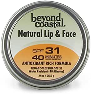 Beyond Coastal 0.9 Oz. SPF 31 Natural Lip & Face Sunscreen