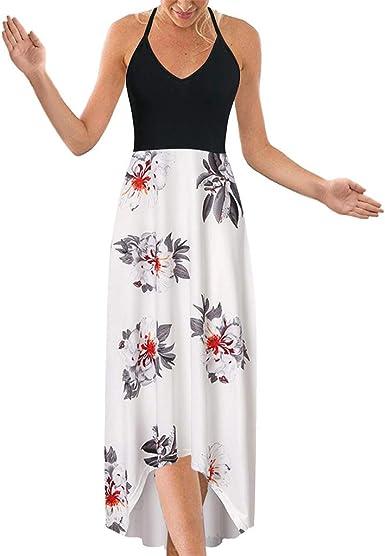 Nouveau Haut Plus Taille Robe Longue Femme Sans Manches Longues S Imprimé Floral Fête