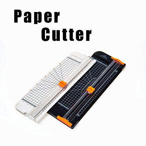 Paper Trimmers - 12 Inch A4 Titanium Paper Cutter with Automatic Security Safeguard Guillotine and Slide Ruler Design for Coupon Craft Paper Label or Photo (Black) Photo #6