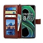 Go Perfect Realme 8 5G Flip Cover | Leather Finish | Inside Pockets & Inbuilt Stand | Shockproof Wallet Style Magnetic…