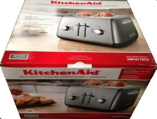 KitchenAid 4-Slice Wide-Slot Toaster Contour Silver KMT4115CU