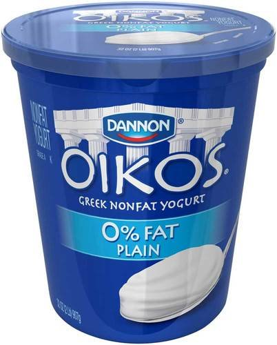 Oikos Plain Nonfat Greek Yogurt, 32 Ounce -- 6 per case.