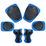 OFKP 6 in1 Protective Gear Set, Kids Knee Pads Set Roller Skating Cycling Protective Gear Set for Skating Skateboarding Cycling Biking Scooter